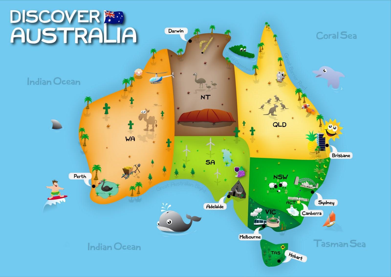 australie  u00e0 la carte pour les enfants