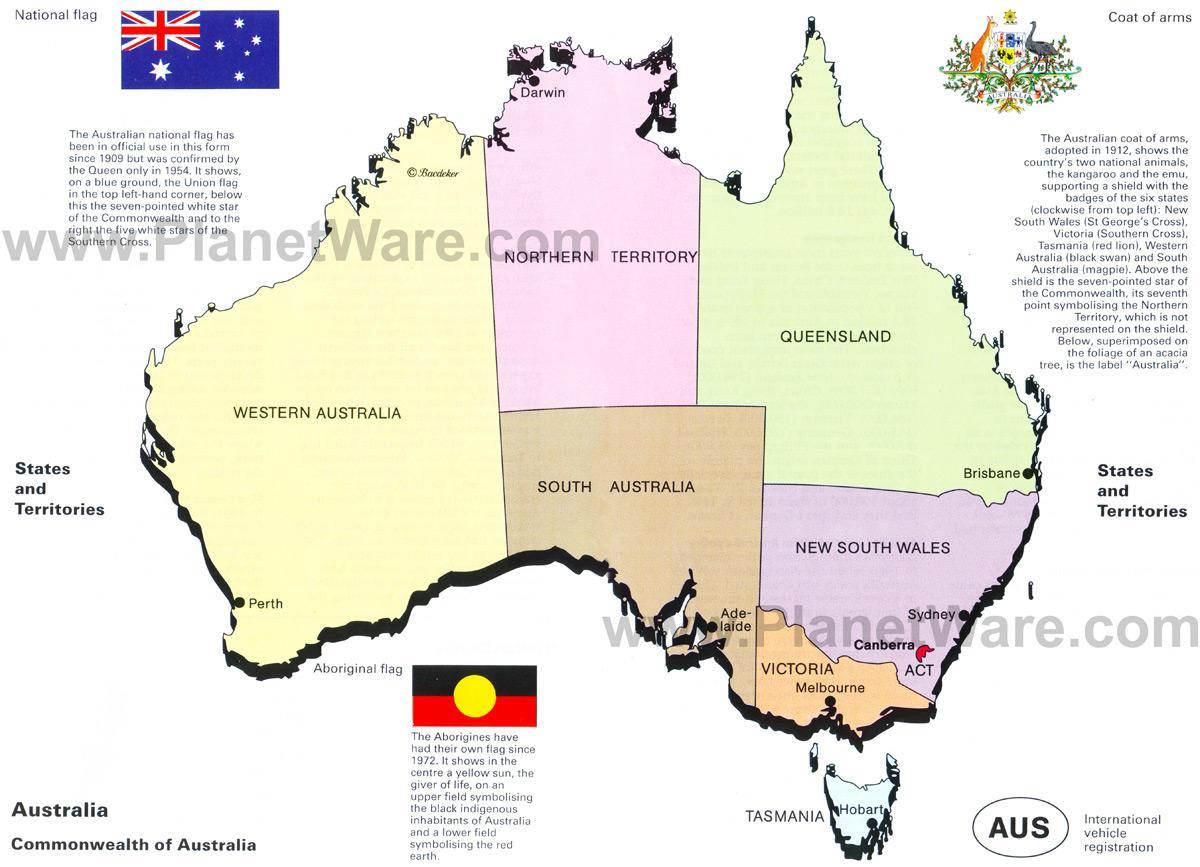 Carte Australie Etat.L Australie Carte D Etat Australie Carte Du Territoire L